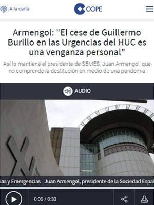 """Armengol: """"El cese de Guillermo Burillo en las Urgencias del HUC es una venganza personal"""""""