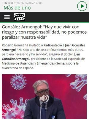 Entrevista a Juan Jorge González Armengol en Radioestadio