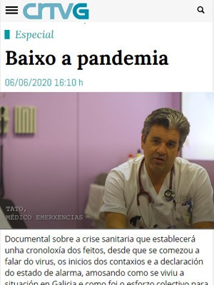 Tato Vázquez Lima en Baixo a pandemia