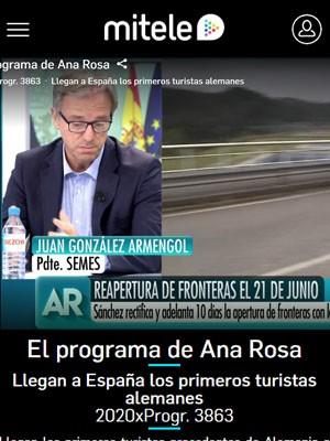 El Programa de Ana Rosa con Juan Jorge González Armengol