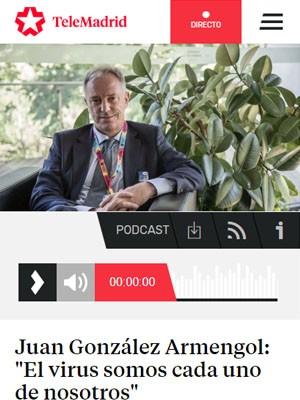"""Juan González Armengol: """"El virus somos cada uno de nosotros"""""""