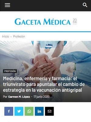 Medicina, enfermería y farmacia: el triunvirato para apuntalar el cambio de estrategia en la vacunación antigripal