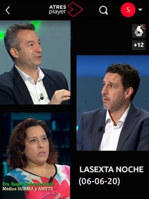 La Sexta Noche con César Carballo, Tomás Villén y Raquel Rodriguez Merlo