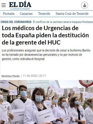 Los médicos de Urgencias de toda España piden la destitución de la gerente del HUC