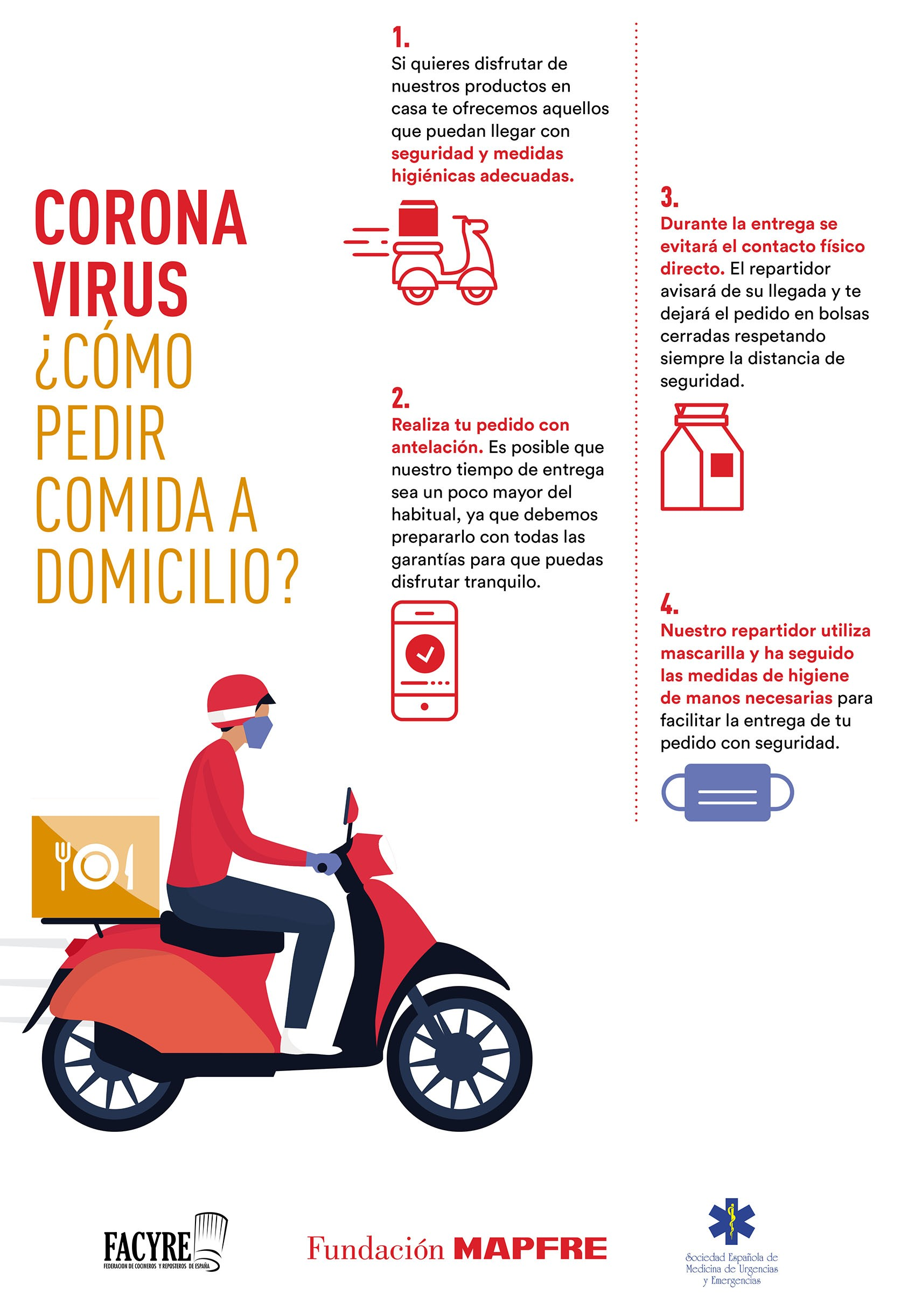 Coronavirus ¿Cómo pedir comida a domicilio? MAPFRE