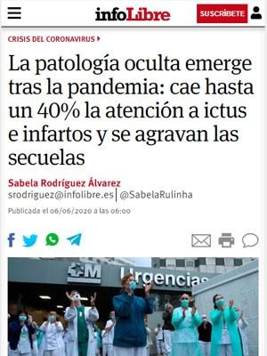La patología oculta emerge tras la pandemia: cae hasta un 40% la atención a ictus e infartos y se agravan las secuelas