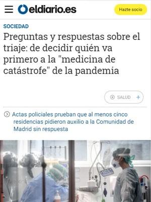 """Preguntas y respuestas sobre el triaje: de decidir quién va primero a la """"medicina de catástrofe"""" de la pandemia"""