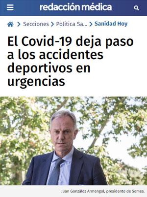 El Covid-19 deja paso a los accidentes deportivos en urgencias