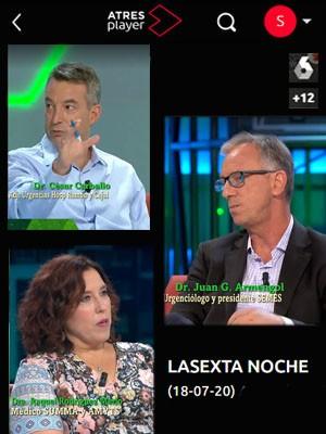 La Sexta Noche con Juan Jorge González Armengol, Raquel Rodriguez Merlo y César Carballo