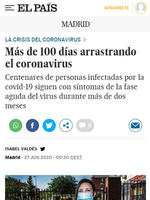 Más de 100 días arrastrando el coronavirus