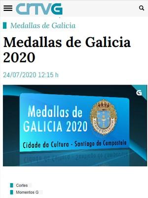 Medallas de Galicia 2020