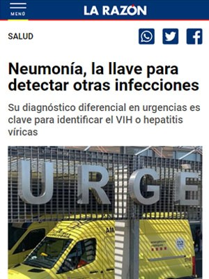 Neumonía, la llave para detectar otras infecciones