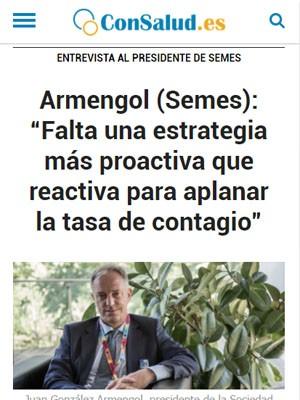 """Armengol (Semes): """"Falta una estrategia más proactiva que reactiva para aplanar la tasa de contagio"""""""