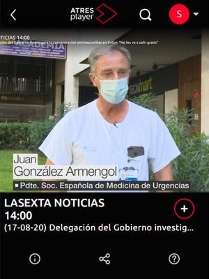 Juan Jorge González Armengol en la Sexta Noticias (Min 5)