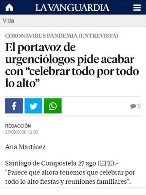 """El portavoz de urgenciólogos pide acabar con """"celebrar todo por todo lo alto"""""""