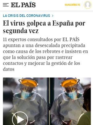 El virus golpea a España por segunda vez