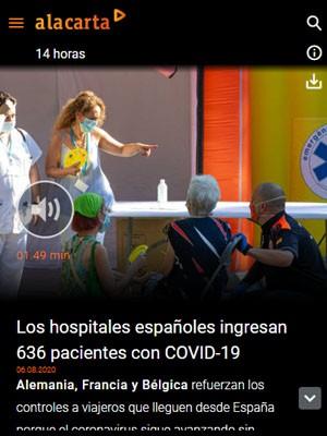 Los hospitales españoles han ingresado 636 pacientes con COVID-19 en la última semana
