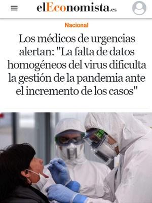 """Los médicos de urgencias alertan: """"La falta de datos homogéneos del virus dificulta la gestión de la pandemia ante el incremento de los casos"""""""