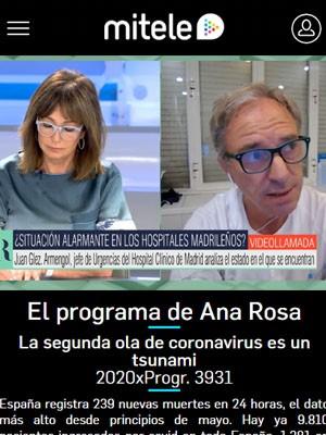 Juan Jorge González Armengol en El Programa de Ana Rosa