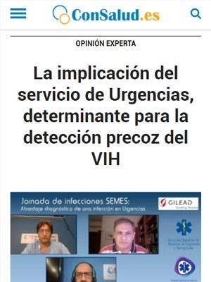 La implicación del servicio de Urgencias, determinante para la detección precoz del VIH