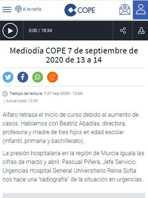 Pascual Piñera en Mediodia COPE