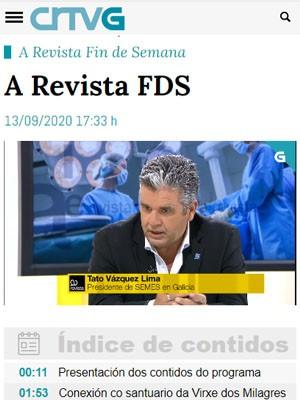 Tato Vázquez Lima en A Revista FDS (Min 77)