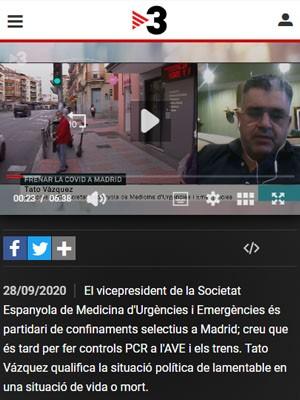 """Tato Vázquez: """"El confinament és efectiu, però destrossa l'economia"""""""