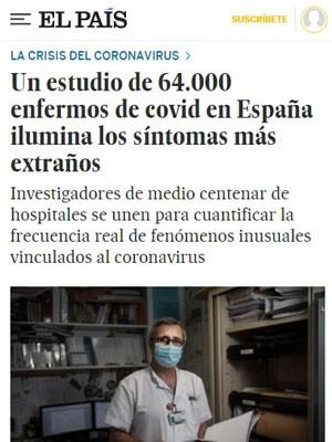Un estudio de 64.000 enfermos de covid en España ilumina los síntomas más extraños