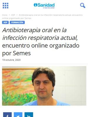 Antibioterapia oral en la infección respiratoria actual, encuentro online organizado por SEMES