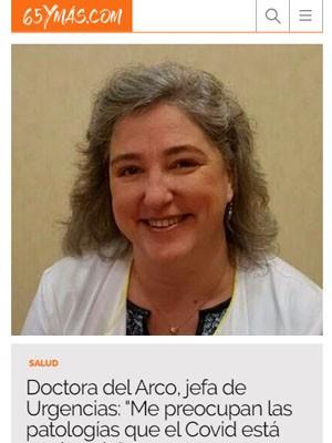 """Doctora del Arco, jefa de Urgencias: """"Me preocupan las patologías que el Covid está ocultando"""""""
