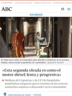 «Esta segunda oleada es como el motor diésel: lenta y progresiva»