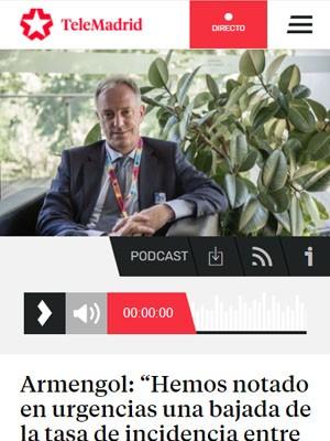 """Armengol: """"Hemos notado en urgencias una bajada de la tasa de incidencia entre un 30% y un 40%"""""""