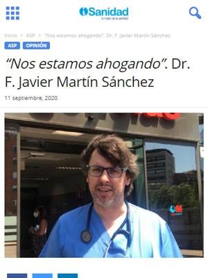 """""""Nos estamos ahogando"""". Dr. F. Javier Martín Sánchez"""