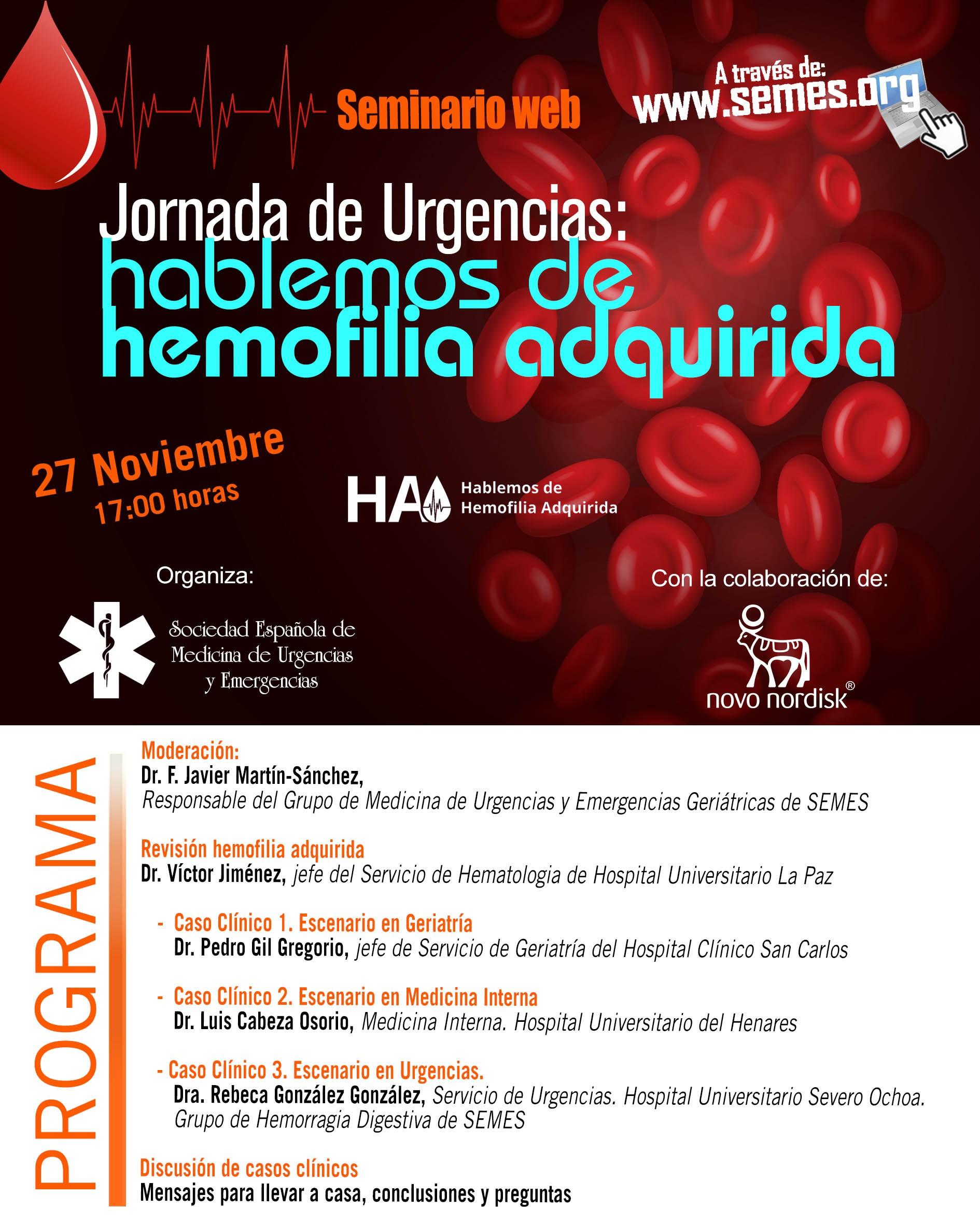 Jornada de Urgencias - Hablemos de Hemofilia Adquirida