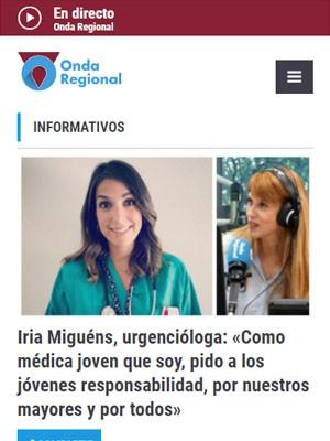 Iria Miguéns, urgencióloga: «Como médica joven que soy, pido a los jóvenes responsabilidad, por nuestros mayores y por todos»