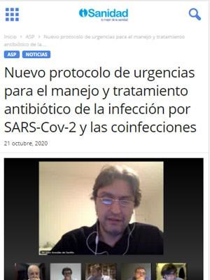 Nuevo protocolo de urgencias para el manejo y tratamiento antibiótico de la infección por SARS-Cov-2 y las coinfecciones