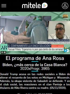 Pascual Piñera Salmerón en El Programa de Ana Rosa