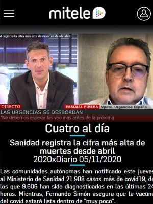 Pascual Piñera Salmerón en Cuatro al día (Min 40)