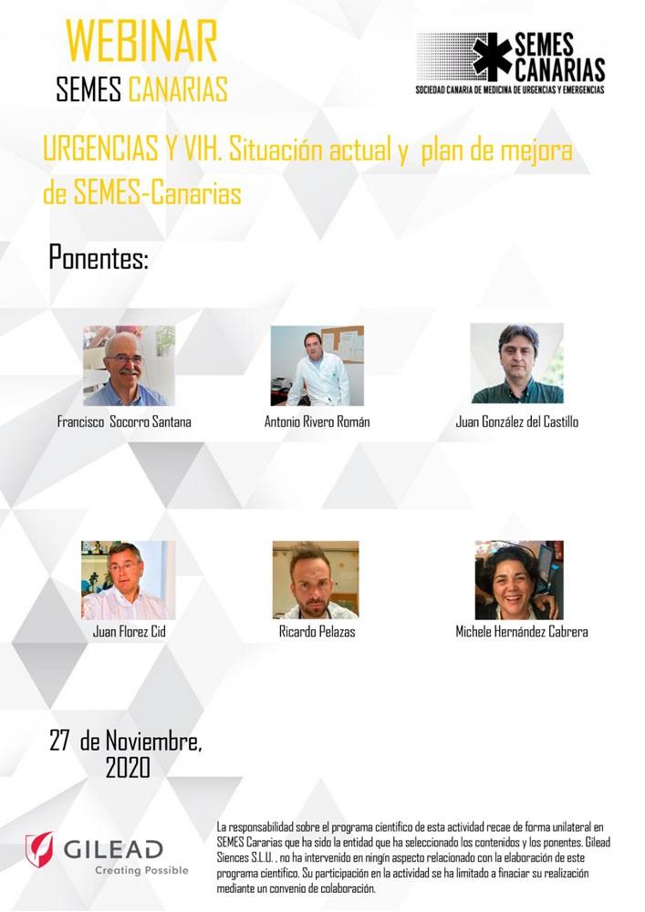 Urgencias y VIH. Situación Actual y plan de mejora de Semes-Canarias