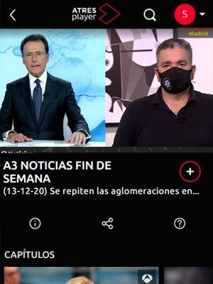 Tato Vázquez Lima en A3 Noticias (Min 23)