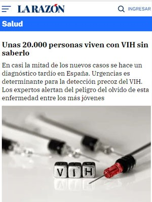 Unas 20.000 personas viven con VIH sin saberlo
