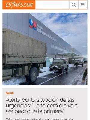 """Alerta por la situación de las urgencias: """"La tercera ola va a ser peor que la primera"""""""