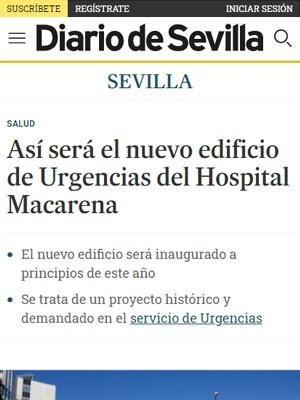 Así será el nuevo edificio de Urgencias del Hospital Macarena