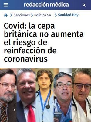Covid: la cepa británica no aumenta el riesgo de reinfección de coronavirus