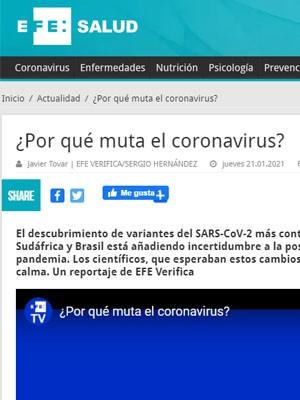 ¿Por qué muta el coronavirus?