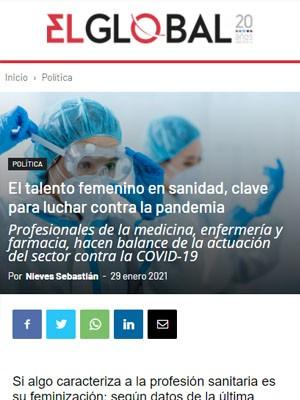 El talento femenino en sanidad, clave para luchar contra la pandemia