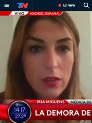 Entrevista a Iria Miguens en TN - Todo Noticias