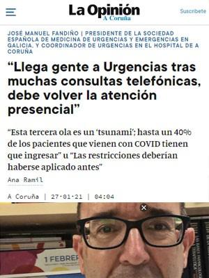 """""""Llega gente a Urgencias tras muchas consultas telefónicas, debe volver la atención presencial"""""""