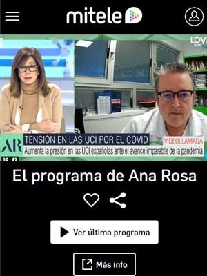 Pascual Piñera Salmerón en El Programa de Ana Rosa (Min 48)