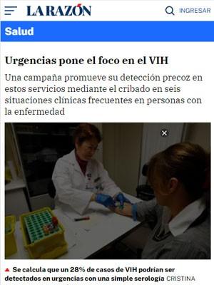 Urgencias pone el foco en el VIH